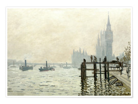 Poster  The Thames below Westminster - Claude Monet