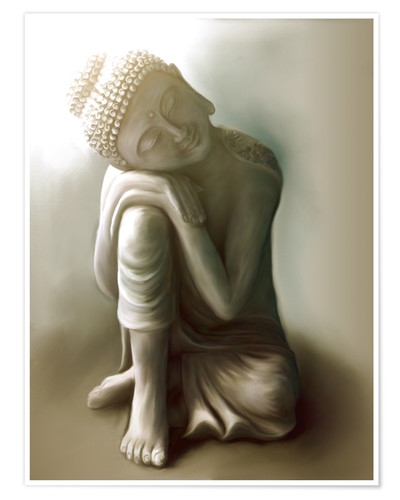 Poster Bouddha tranquille