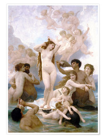 Poster  La Naissance de Vénus - William Adolphe Bouguereau