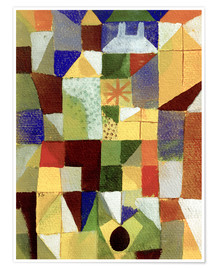 Poster  Urban Composition - Paul Klee