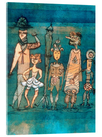 Verre acrylique  masks - Paul Klee