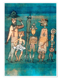 Poster  Masques - Paul Klee