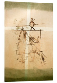 Verre acrylique  Tightrope Walker - Paul Klee