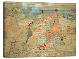 Toile  Landscape with Donkeys - Paul Klee