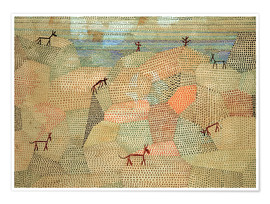Paul Klee - Landscape with Donkeys