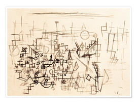 Poster  Crowd in the Harbour - Paul Klee
