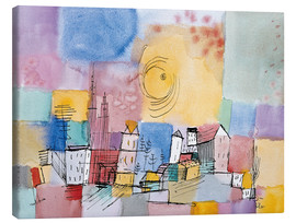Toile  German city - Paul Klee