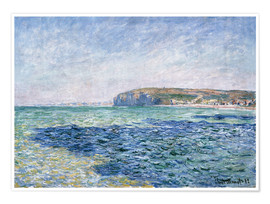 Poster  shadows on the sea at Pourville - Claude Monet