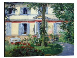 Alu-Dibond  Country house in Rueil - Edouard Manet