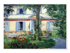 Poster  Country house in Rueil - Edouard Manet