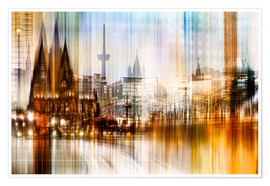 Poster Germany Collonge Köln skyline