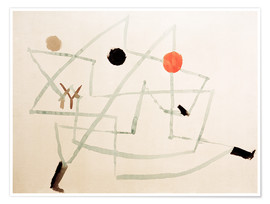 Poster  Bewitched and hurry - Paul Klee