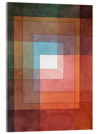 Verre acrylique  White Framed Polyphonically - Paul Klee