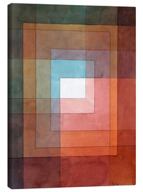 Toile  White Framed Polyphonically - Paul Klee