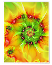 Poster  Fractal 'On a hot summer day' - gabiw Art