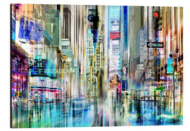 Alu-Dibond  USA - NYC New York, collage abstrait - Städtecollagen
