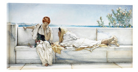 Tableau en verre acrylique  Une question - Lawrence Alma-Tadema