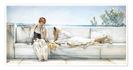 Poster  Une question - Lawrence Alma-Tadema