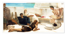 Poster  Une lecture d'Homère - Lawrence Alma-Tadema