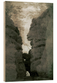 Tableau en bois  Rock gate Uttenwalder Grund - Caspar David Friedrich