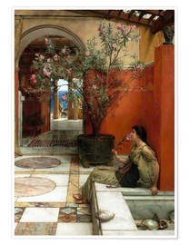 Poster  The Oleander - Lawrence Alma-Tadema