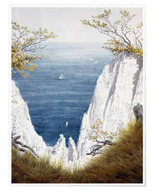 Poster  Chalk cliffs on Rugen island - Caspar David Friedrich
