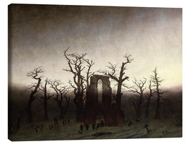 Toile  The Abbey in the Oakwood - Caspar David Friedrich