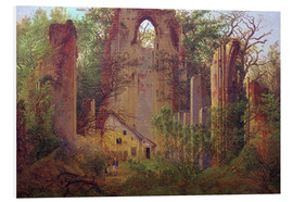 Tableau en PVC  Abbey ruin Eldena - Caspar David Friedrich