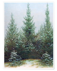 Caspar David Friedrich - Fir Trees in Snow