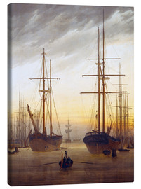 Toile  Vue d'un port - Caspar David Friedrich