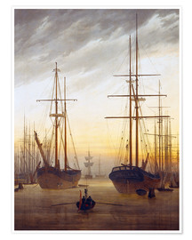 Poster  Vue d'un port - Caspar David Friedrich