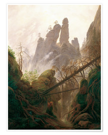 Poster Gorge rocheuse