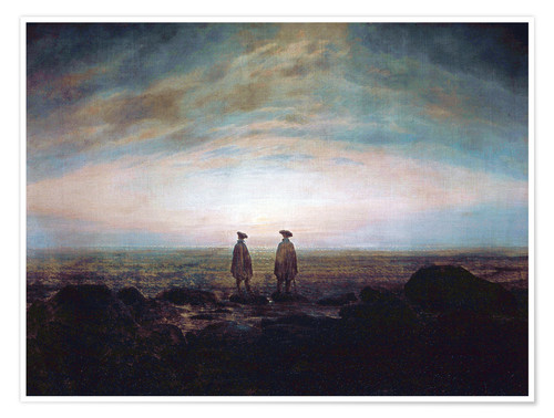 Poster Two men at the sea
