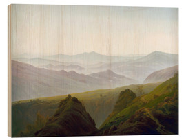 Tableau en bois  Morning in the Mountains - Caspar David Friedrich