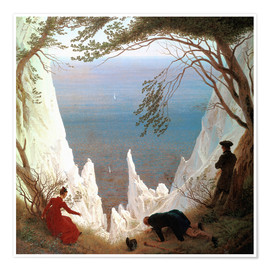 Poster  White Cliffs of Ruegen - Caspar David Friedrich