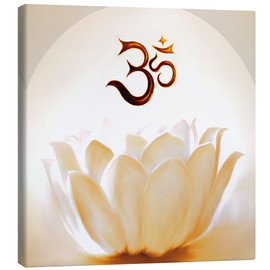 Toile  Lotus with Om - Christine Ganz