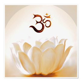 Poster  Lotus with Om - Christine Ganz