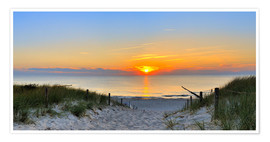 Poster  Photo panoramique d'un coucher de soleil sur la plage - Fine Art Images