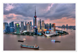 Poster  Vue de Pudong - Shanghai - HADYPHOTO by Hady Khandani