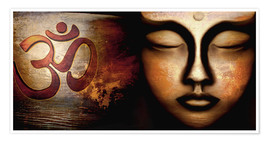 Poster  Siddhartha with Om - Christine Ganz