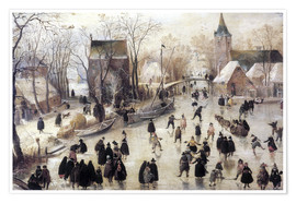 Poster  Patinage sur glace - Hendrick Avercamp