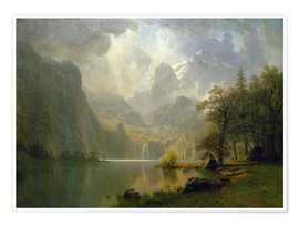 Poster  In the Mountains - Albert Bierstadt