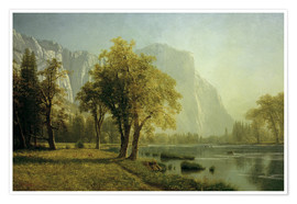 Poster  El Capitan, Yosemite Valley - Albert Bierstadt