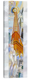 Toile  The woman and the tower - Robert Delaunay