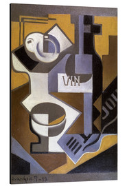 Tableau en aluminium  Still Life with Wine Bottle - Juan Gris