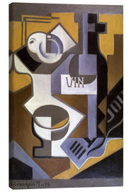 Toile  Still Life with Wine Bottle - Juan Gris