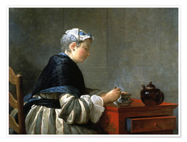Poster Woman drinking tea