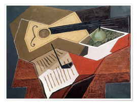 Poster  Guitare et coupe de fruits - Juan Gris