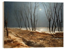 Carl Blechen - Landscape in Winter at Moonlight
