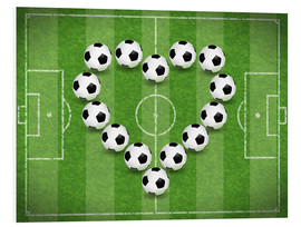 Tableau en PVC  Amour du football - TAlex
